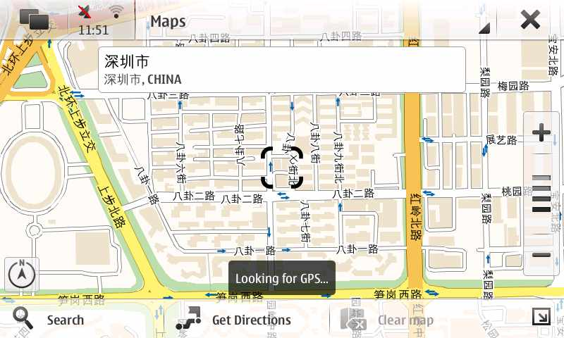 诺基亚N900显示中文地图